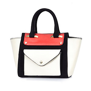 Girls red winged tote bag