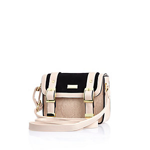 Girls cream satchel bag