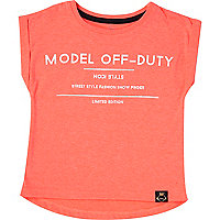 Mini girls coral model print t-shirt