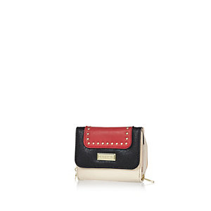 Girls red trifold purse