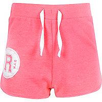Girls pink R circle runner shorts