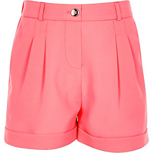 Girls pink tailored shorts