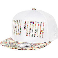 Girls white paisley New York snapback hat