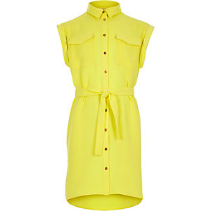 Girls yellow shirt dress