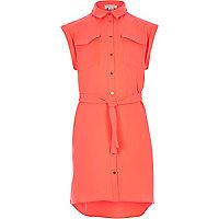 Girls orange shirt dress