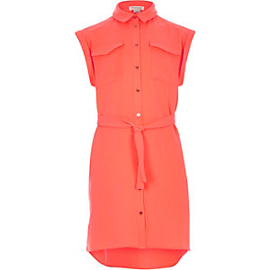 Girls orange shirt dress