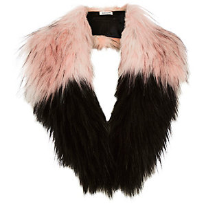 Girls faux fur blocked tippet