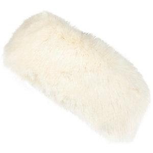 Girls cream faux fur headband