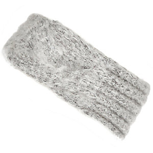 Girls grey knitted headband
