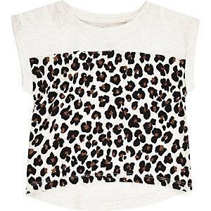 Mini girls leopard print t-shirt