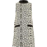 Girls monochrome print shift dress