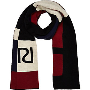 Girls red RI branded scarf