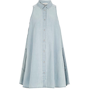 Girls denim A-line dress