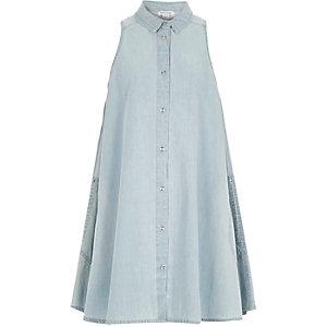Girls denim A-line dress