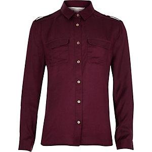 Girls red satin shirt