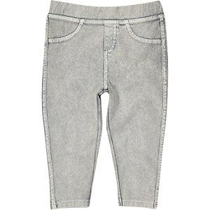 Hellgraue Jeans-Leggings