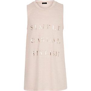 Girls pink simple stylish tank top