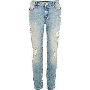 Girls blue vintage wash Molly jeggings