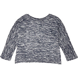 Mini girls blue batwing top