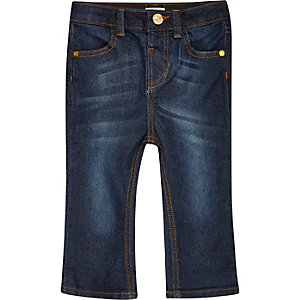Mini girls dark wash flare jeans