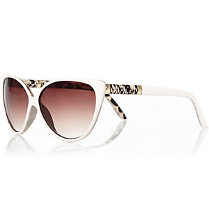 Girls white cat eye sunglasses