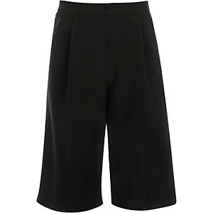 Girls black culottes