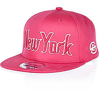 Girls pink New York flatpeak cap