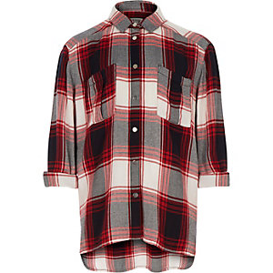 Girls red checked shirt