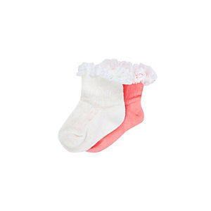 Mini girls frilly socks pack