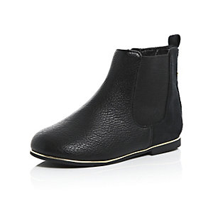 Mini girls black Chelsea boots