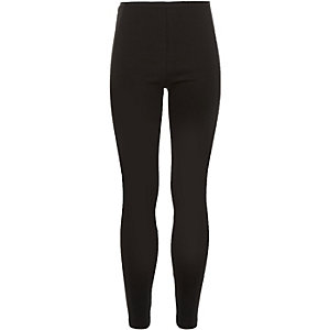 Girls black high waisted leggings