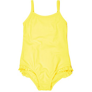 Mini girls bright yellow swimsuit