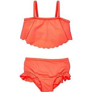 Mini girls coral bikini
