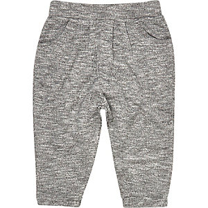 Mini girls grey slouchy joggers