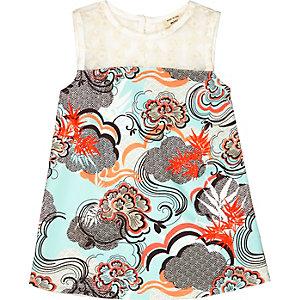 Mini girls printed sleeveless dress