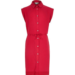 Girls red shirt dress