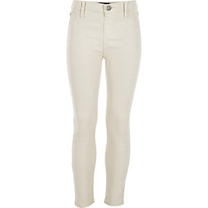 Girls cream Molly jeggings