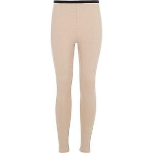 Girls beige leggings