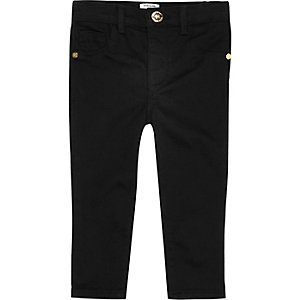 Mini girls black denim jeans