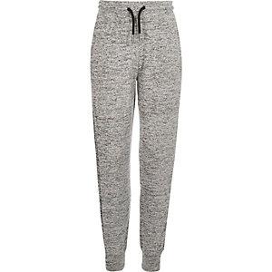 Girls grey marl joggers