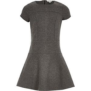 Girls grey skater dress
