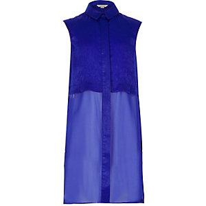Girls blue longline shirt