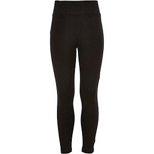 Girls black premium high waisted leggings