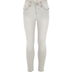 Girls grey Amelie superskinny jeans