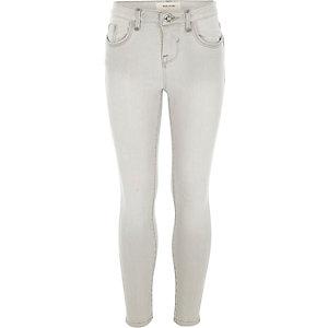 Girls grey Amelie superskinny jeans