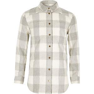 Girls grey check shirt