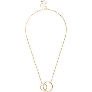 Girls gone tone interlocking link necklace