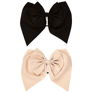Girls pink bow hairband pack