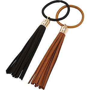 Girls tassel hair tie 2 pack