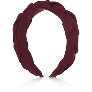 Girls red suedette headband